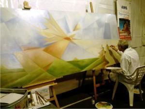 Esibizione pittorica dal vivo